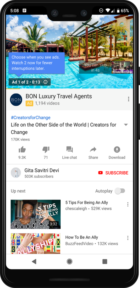 YouTube to insert two back-to-back ads in videos - IMAGE